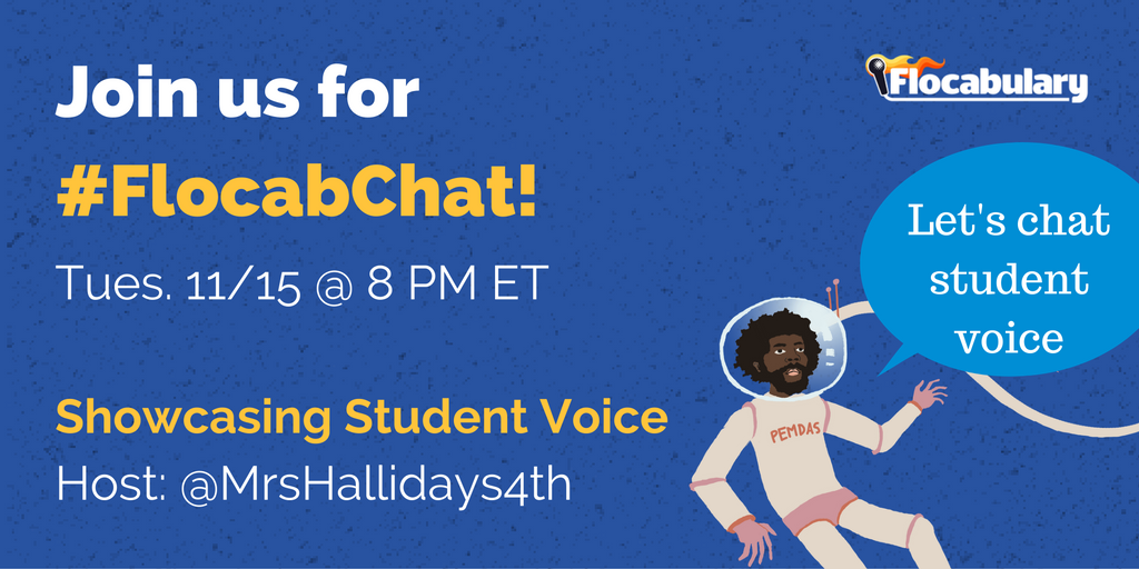 November's #FlocabChat: Elevating And Showcasing Student Voice