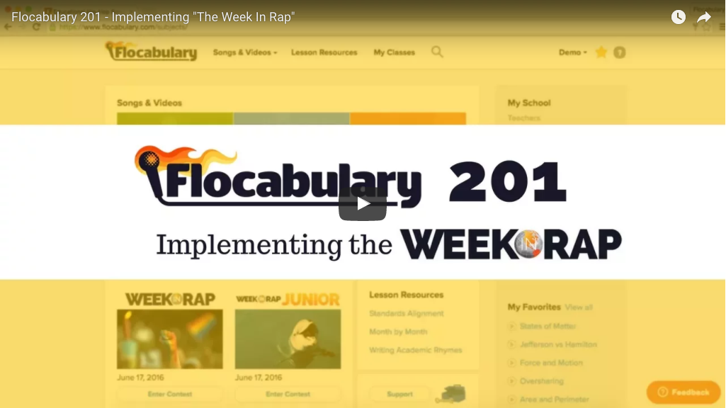 implementing the week in rap, flocabulary